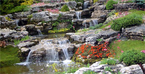 Водопады, ручьи, каскады. Увеличить.